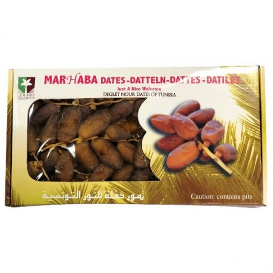 Marhaba Dates - Deglet Nour [branched] (900g)